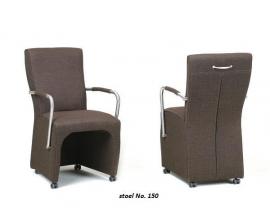 150 KM stoel  ¤ een landelijke stoel met wielen en armleggers  in stof en leer vraag een offerte aan voor  de laagste prijs