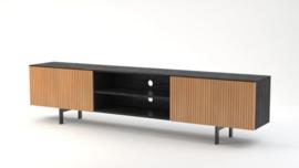 Piano  collectie  Grote Tv-meubel 240 cm breed Mango deuren