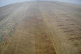 Zara  eettafel rond met mango blad ø 150 cm nu in de actie