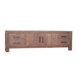 Oriental  model D Tv-meubel 200 cm breed. Deze serie gemaakt van oud gerecycled Teak hout en ook in de actie