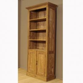406 Boekenkast met 2 deuren. Deze boekenkast is 205 cm hoog, 75 cm breed en 42 cm diep.