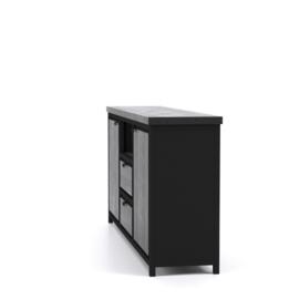 COD zwart Collectie dressoir 180 cm breed met 2  lades in de actie
