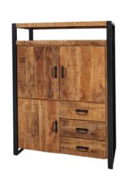 SOHOTO COMBIKAST 115 cm. breed het meubel een specifiek industriële look.
