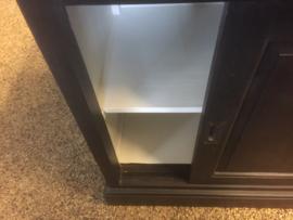 Buffet/vitrinekasten model 204 GRIJS landelijke met de hand geschilderd nu voor laagste prijs