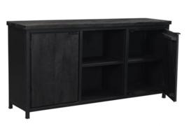 COD zwart Collectie dressoir 180 cm breed  Mango Metaal zonder lade in de actie