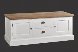 122  Tv-meubel White wash  ¤160 cm.breed  , 50 cm diep en 61 cm hoog  lang voor de laagste prijs