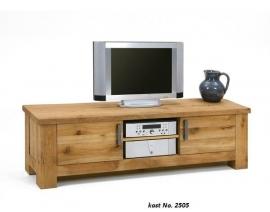 2505 TV meubel KOOPMANS in geschuurd eiken 180cm lang vraag nu de actie OFFERTE aan