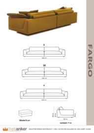FARGO :van het Anker leverbaar van  3 zitter tot 4 zitter bankstel voor de laagste prijs