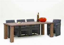 Eettafel model 610 Eiken leverbaar in div.maten en alle kleuren CBM nu tegen internetmeubel lage prijs