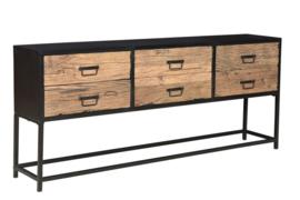 MMB015 Raw Collectie oud hout  metaal opbergkast gelijk voor de laagste prijs