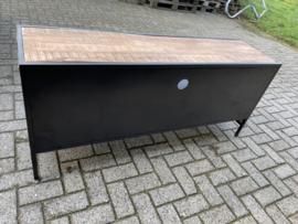 Moniek03 Industriële Tv-meubel Mangohout/metaal  150 cm breed