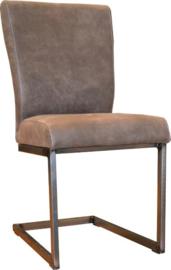 IVY een kwaliteit vergader stoel of eetkamerstoel met een industrieel vierkant metalen buisframe en grove lasnaden in stof,leer en kustleer bij ons voor de laagste prijs
