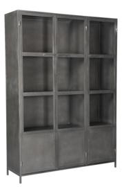 MMB012 Grote 3 deuren Industriële metaal vitinekast  kast 150 cm breed.     Nu voor een super lage prijs