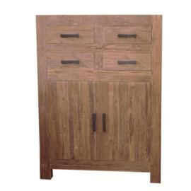 Oriental model G Meidenkast 110cm breed. Deze serie gemaakt van oud gerecycled Teak hout en ook in de actie