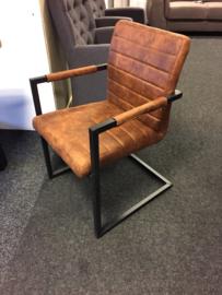 ANITA   industriële eetkamer stoelen metaal    Cognac nu van