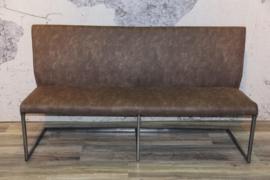 IVY bank op 130 cm Industriële frame kan gestoffeerd in stof lederlook Colorado of leer tegen de laagste prijs van af