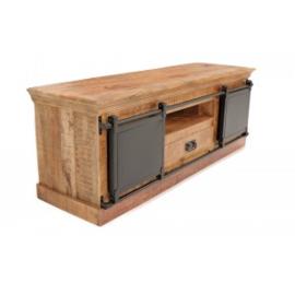 IRON Tv-meubel  150 cm Metaal met Mangohout  top model en in de actie