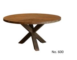 600 | Model 600 rond  eettafel van koopmans  leverbaar 130 , 140 , 150. cm doorsnede  merktafel voor de laagste prijs