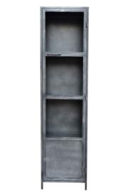 MMB004   Design een Industriële metaal Vitrine  kast 50 cm breed nu in de actie de laagste prijs