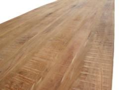 ULLA  MANGO eettafel Mango hout metaal onderstel U leverbaar 180 cm,200 cm 240 cm,260 cm ACTIE  prijs van af
