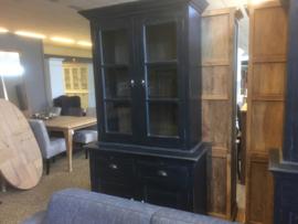 Buffetkast model Appel 550 zwart |124 cm breed 4 deuren en 2 laden in de kleur  kleur zwart