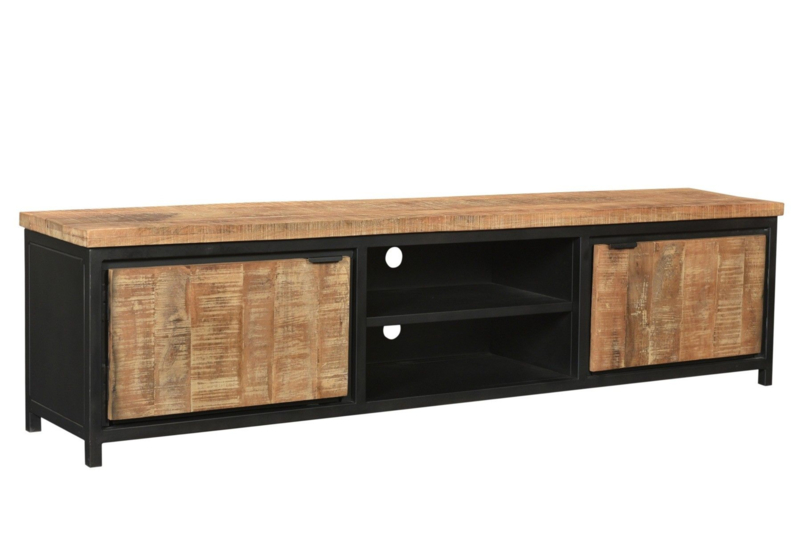 Teak Koloniaal Tv Meubel.Mmb014 Tv Meubel Cod Tv Meubel 210 Cm Breed Mango Naturel Met