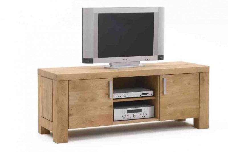 Tv Kast Klassiek Eiken.1403 T V Meubel 110 X 52 X 62 Cm In Rustiek Eiken Tegen Een Lage