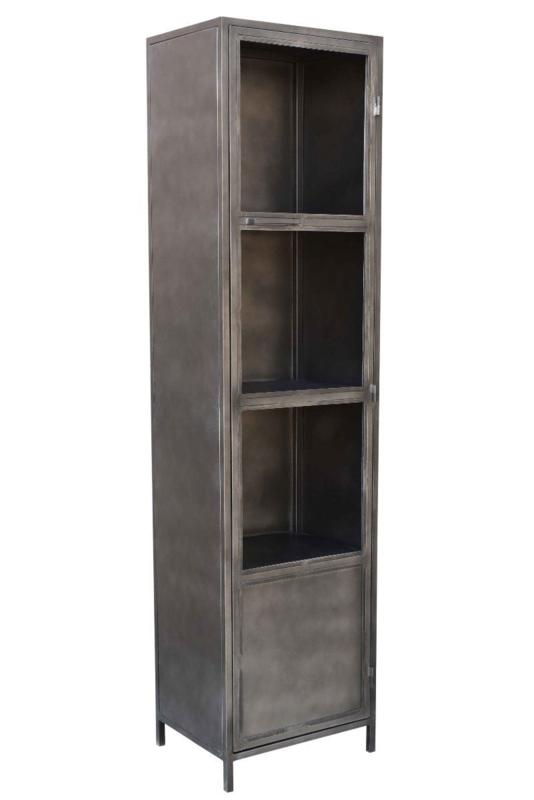 Mmb004 Design Een Industriële Metaal Vitrine Kast 50 Cm
