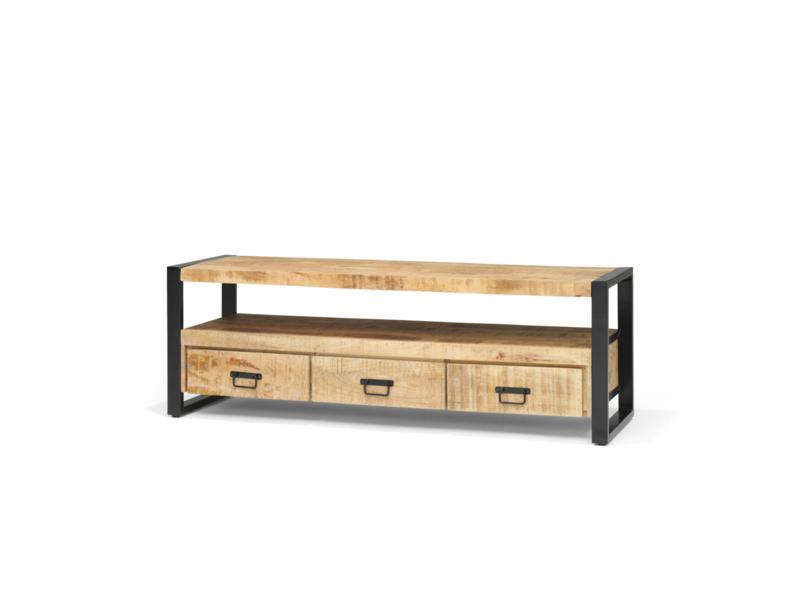 Bandung Tv-meubel 150 cm mangohout 150 cm breed voor een zacht prijsje