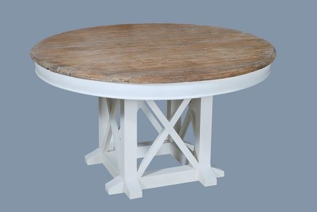 Compleet Eettafel Met 6 Stoelen.Louvre Eethoek Compleet Een Tafel Rond 150 Cm 6 Stoelen Hout Wit