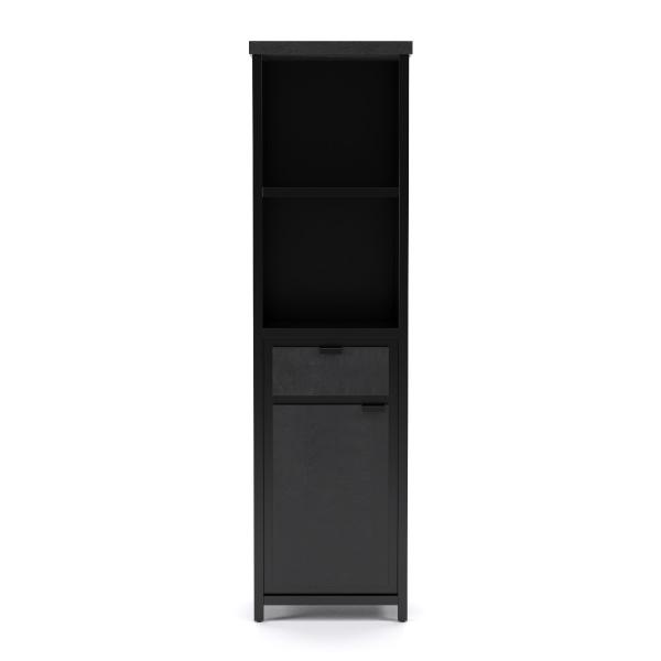 COD zwart Collectie Boekenkast 50 cm breed  Mango Metaal  lade + deur in de actie