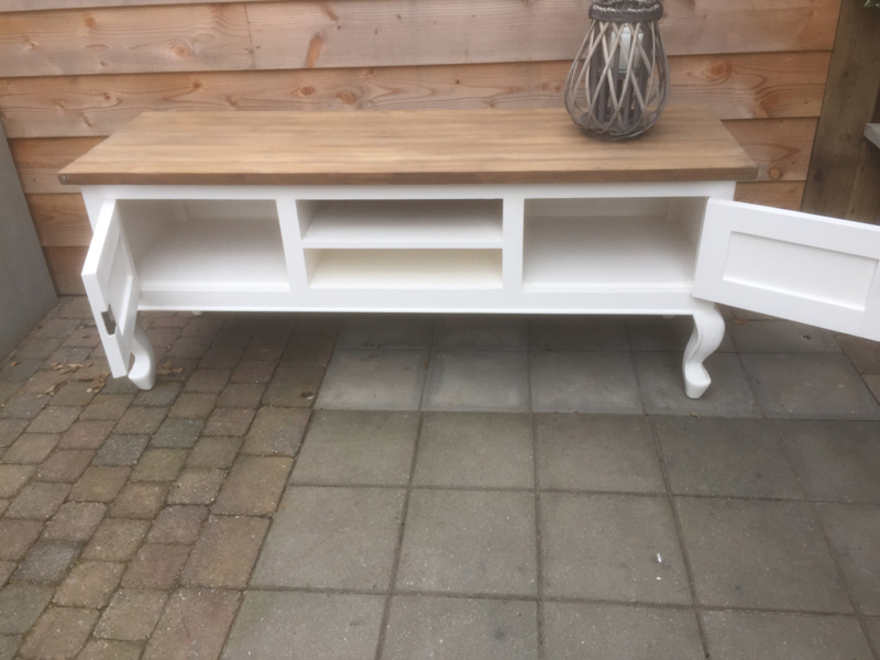 Tv Meubel Eiken Look.Tv Meubel Queen Ann Poot Barok 160 Cm Breed Met Drift Look Teak