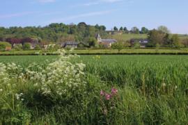 018. Oud-Valkenburg met kasteel Schaloen en natuurgebied het Gerendal.