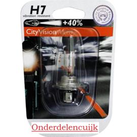 Lamp H7 12v 55w (Uw motor is door de Oranje reflectie beter zichtbaar!)