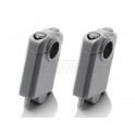 universele STUURVERHOGERS 50mm,grijs, voor 22mm stuur (stver932)