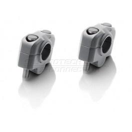 universele STUURVERHOGER 20mm,grijs,voor 22mm stuur (stver920)