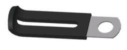 KLEM metaal kunstof bekleed 6mm gat (c1407k)