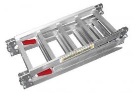 aluminium OPRIJPLAAT 198x28.5cm (opklapbaar tot 71cm) tot 250kg.