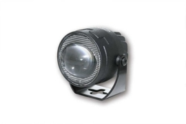 Breedstraler LED Ellipsoid Ø50mm lengte 75mm (zwarte metalen uitvoering)