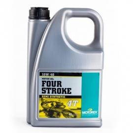 10w40 Motorolie Motorex FOUR STROKE (deelsyntheet) JASO-MA2 sg sh sj sl (4 Liter) (m10w40fs) <zzrhd>        m0397) (bagv)
