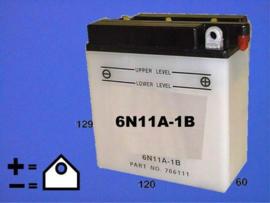 6 volt motor ACCU 6N11A-1b 6n11a1b MZ TS250 Jawa BSA A10 enz . [edP21]