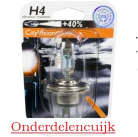 Lamp H4 12v 60/55w (Uw motor is door de Oranje reflectie beter zichtbaar!)
