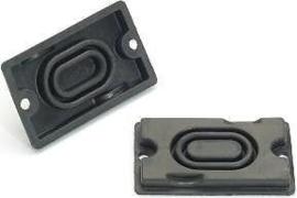 Rubber (onder deksel van rem of koppeling pomp) 37x62mm Boutafstand 55mm (c1511r)