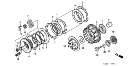 Koppeling DRUKPLAAT Honda xl650v transalp (2000-...)