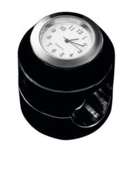 motor KLOKJE analoog zwart (voor 22 of 25mm stuur) is UIT PRODUKTIE!