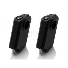 universele STUURVERHOGERS 50mm,zwart, voor 22mm stuur (stver933)