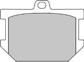 Ferodo REMBLOKKEN Yamaha XS650(se) 75/81 VOOR (ptip177.) [nmve] [zzshc0520]