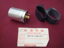 6V knipperlicht RELAIS 6V 17W orgineel Honda 33810-428-671 (Hknrel428)