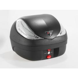 Topkoffer 36 Liter Zwart met Zilvere reflectie 45cm breed (1 helm) (stk36uw17)