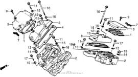 Klepdeksel Honda VT700c Shadow